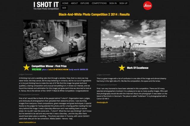 I Shot It Photo Contest