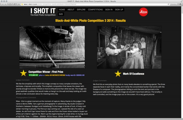 I Shot It Black And White Photo Contest Winner