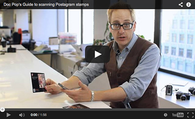 Doc Pop's Guide To Scanning Postagram Stamps