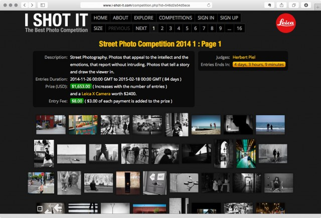 I SHOT IT Street Photography Contest