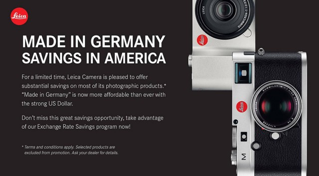 Leica Sale 12% Off For US Customers