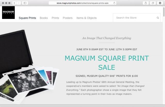 Magnum Square Print Sale