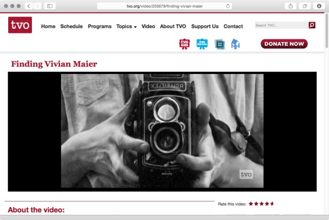 Finding Vivian Maier Streaming Free On TVO.org