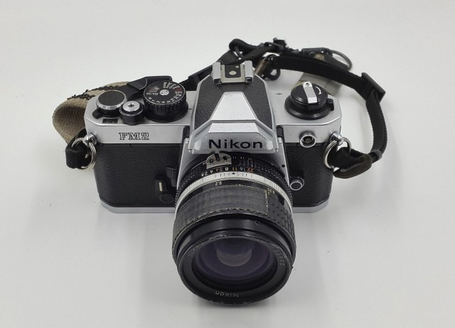 Mary Ellen Mark's Camera Nikon FM2 28mm f2.8
