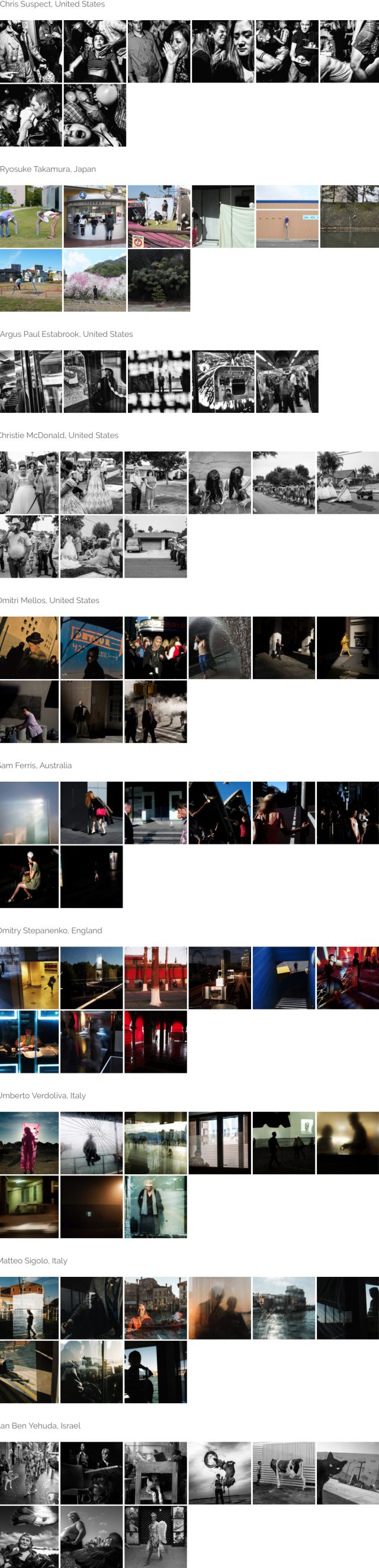 StreetFoto Finalists - Series Category