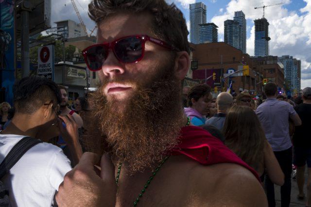 flash street photography gay pride - off camera flash
